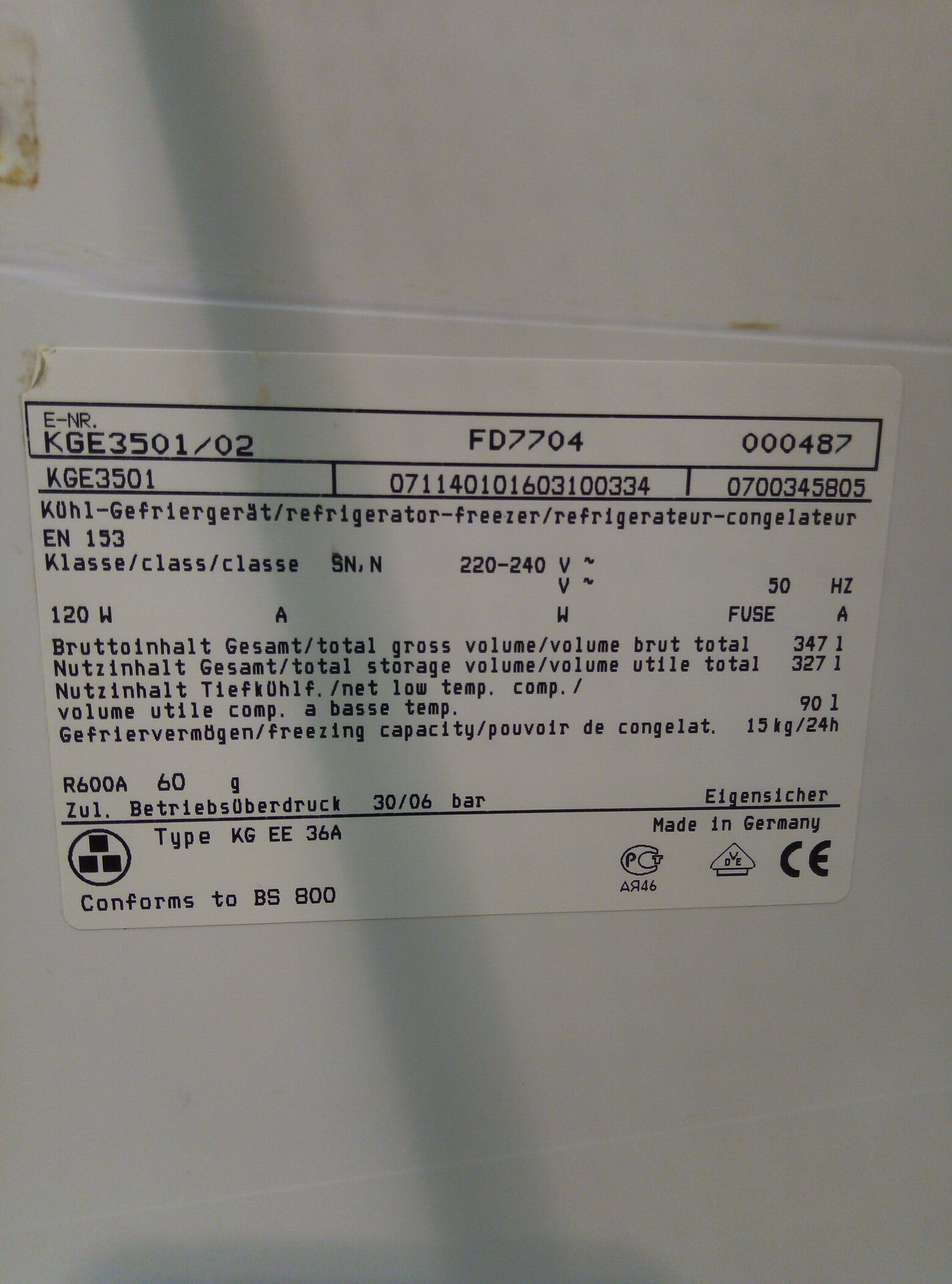 Lg 350q1k A5 Neon R Fblack: Холодильник Bosch KGE 3501/02 Б/У